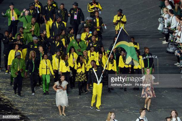 Jamaican Flag With Usain Bolt