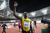 london england usain bolt jamaica acknowledges