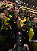 london england usain bolt jamaica celebrates