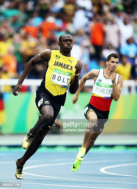 Usain Bolt of Jamaica competes in the Men's 200m Round 1 - Heat 9 on Day 11 of the Rio 2016 Olympic Games at the Olympic Stadium on August 16, 2016...