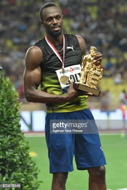 Usain Bolt of jamaica during the IAAF Diamond League Meeting Herculis on July 21 2017 in Monaco Monaco
