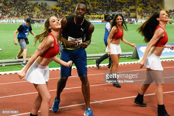Usain Bolt of jamaica men's 100 m during the IAAF Diamond League Meeting Herculis on July 21 2017 in Monaco Monaco