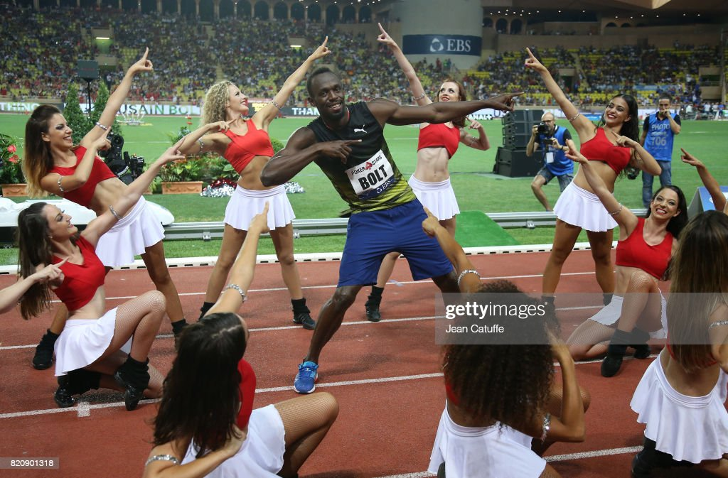Usain Bolt of Jamaica participates in his last 100m in a meeting during the IAAF Diamond League Meeting Herculis 2017 on July 21, 2017 in Monaco, Monaco.
