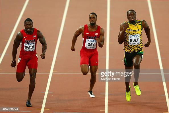 Usain Bolt of Jamaica wins gold in the Men's 100 metres ...