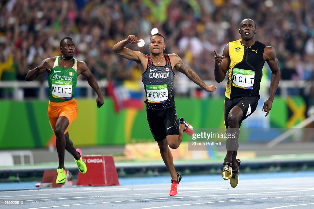Usain Bolt of Jamaica wins the Men's 100m Final ahead of ...