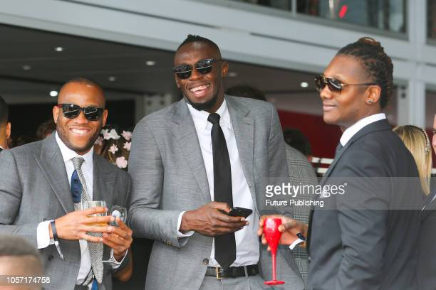 Usain Bolt parties with friends and guests at Derby Day at the 2018 Melbourne Cup Carnival
