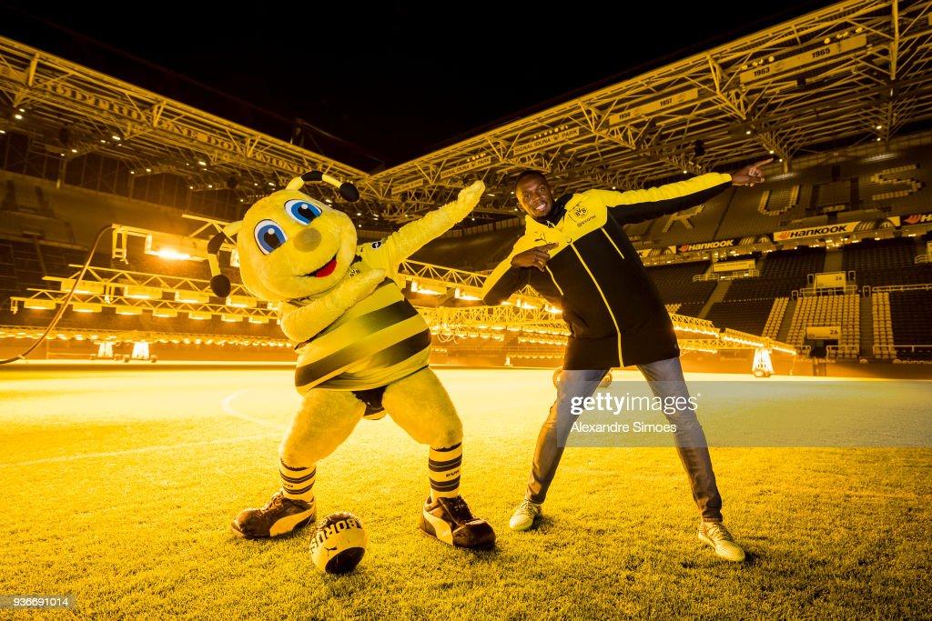 Usain Bolt Trains At Borussia Dortmund