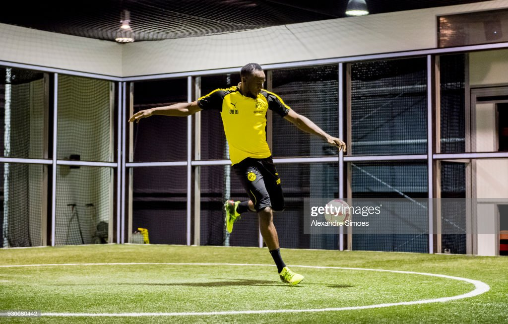 Husain Bolt Trains At Borussia Dortmund