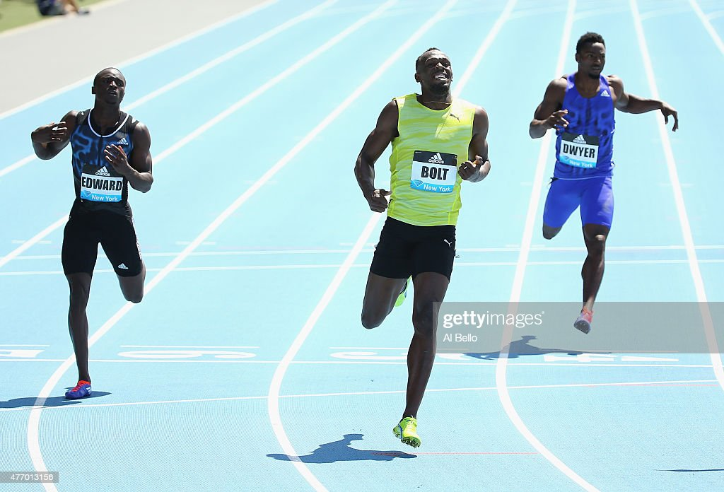 Usain Bolt wins the 200m men final during the Adidas Grand ...