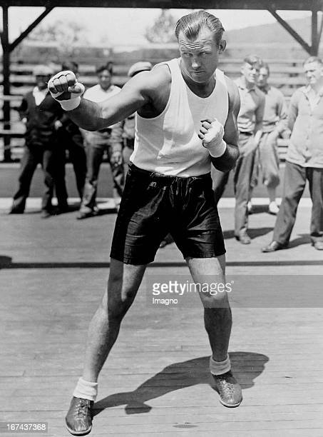 USAmerican boxer and world heavyweight champion of 19321933 Jack Sharkey in training before his fight with Max Schmeling 1930 Photograph Der...