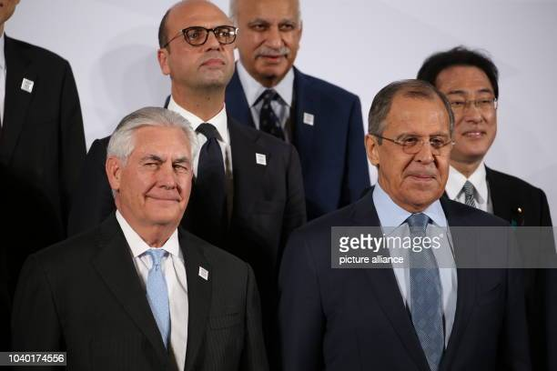 USAmerican Minister of Foreign Affairs Rex Tillerson Russian Minister of Foreign Affairs Sergey Lavrov Italian Minister of Foreign Affairs Angelino...