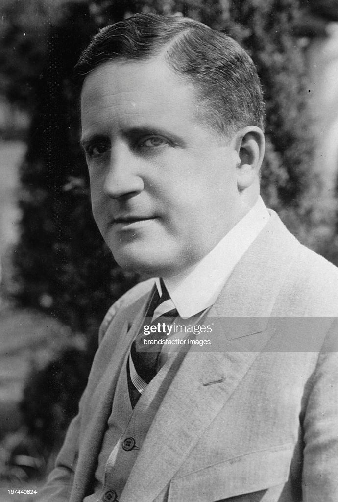 US-american politican Albert E. Ottinger. 1928. Photograph. (Photo by Imagno/Getty Images) Der US-amerikanische Politiker Albert E. Ottinger 1928. Photographie.