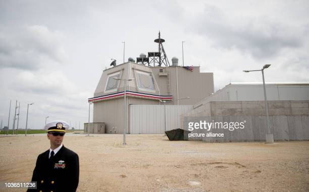 American soldier stands in front of the defence base for the NATO protection shield in Deveselu, Romania, 12 May 2016. The 'Aegis' system that was...