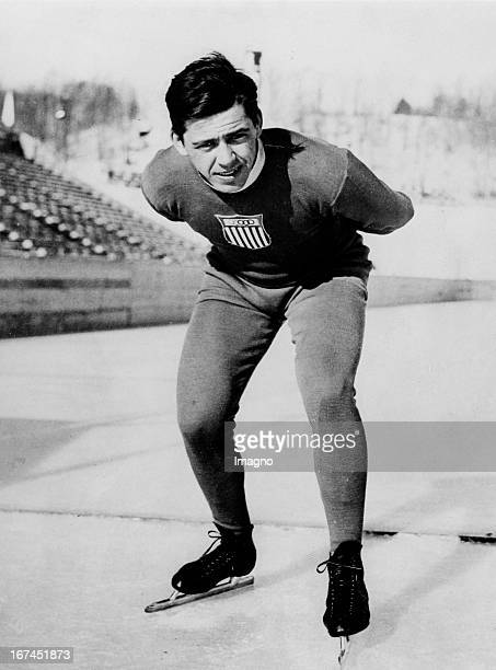 American speed skater and Olympic gold medalist in the 500 and 1500 meters at the Olympic Games in 1932 in Lake Placid - John Jack Shea . 1932....