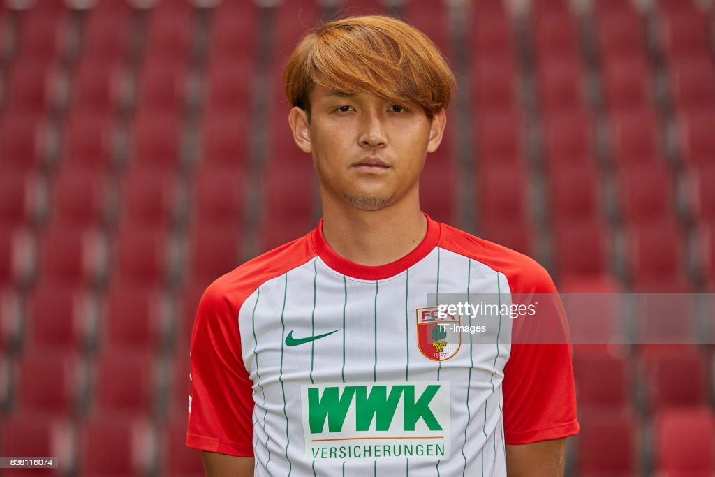 Usami Takashi of FC Augsburg poses during the team presentation at WWK Arena on July 17, 2017 in Augsburg, Germany.