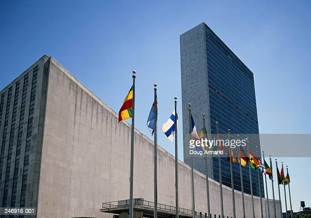 usa,new york,united nations building - united nations building stock pictures, royalty-free photos & images