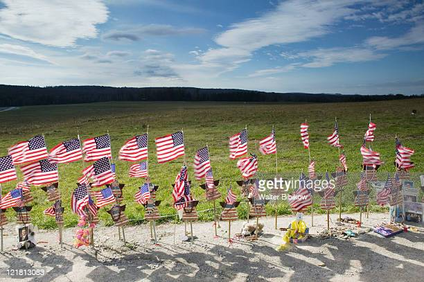 USA-Pennsylvania-Shanksville: Flight 93 memorial- Temporary memorial to the victims of terrorist aircrash on 9/11/2001