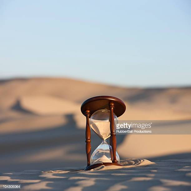 usa,utah,little sahara,hourglass buried in sand on desert - sandy utah stock pictures, royalty-free photos & images