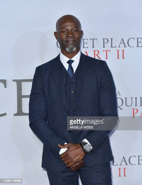 US/Beninese actor Djimon Hounsou attends Paramount Pictures' A Quiet Place Part II world premiere at Rose Theater Jazz at Lincoln Center on March 8...