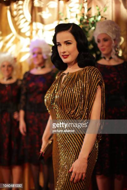 USBurlesque model Dita von Teese arrives with for the Lambertz Monday Night party in Cologne Germany 28 January 2013 Photo Rolf Vennenbernd | usage...
