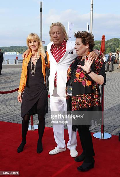 Uschi Buchfellner Rolf Eden and Nicola Galliner attend the Opening Gala of the 18th Jewish Film Festival Berlin Potsdam at Hans Otto Theater on June...