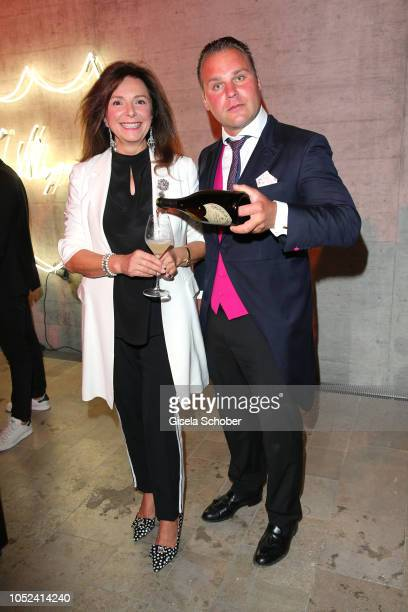 Uschi Daemmrich von Luttitz Christoph von Preysing during the Dom Perignon 'The Legacy' event on October 17 2018 in Munich Germany