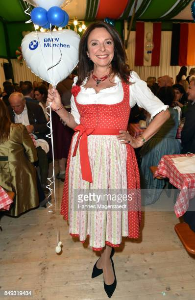 Uschi Daemmrich von Luttitz during the BMW Armbrustschiessen as part of the Oktoberfest 2017 at ArmbrustSchuetzenfesthalle on September 18 2017 in...