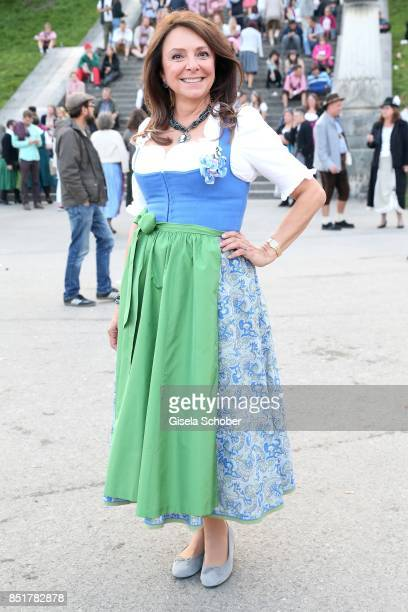 Uschi Daemmrich von Luttitz during the Oktoberfest at Kaefer Schaenke Theresienwiese on September 22 2017 in Munich Germany