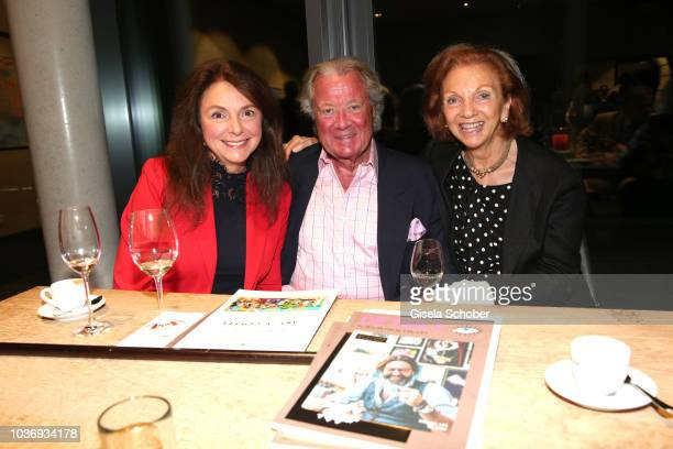Uschi Daemmrich von Luttitz Toni Meggle and his wife Marina Meggle during a vernissage with artwork by artist Mauro Bergonzoli at the new building...