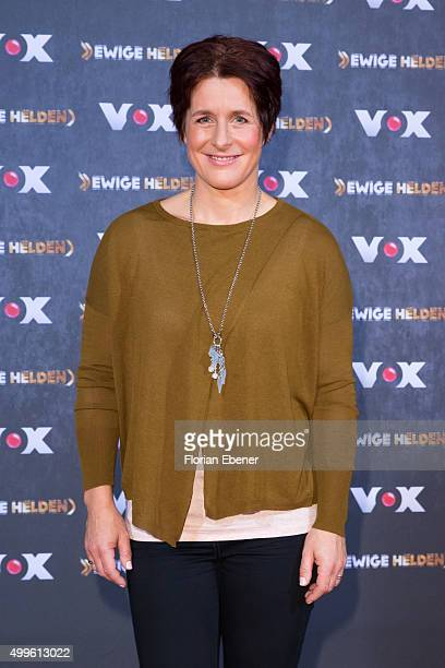 Uschi Disl attends a photo call for the new tv show 'Ewige Helden' on December 2 2015 in Cologne Germany