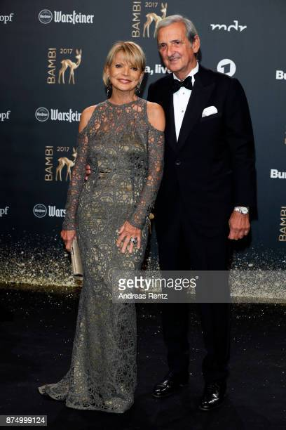 Uschi Glas and Dieter Hermann arrive at the Bambi Awards 2017 at Stage Theater on November 16 2017 in Berlin Germany