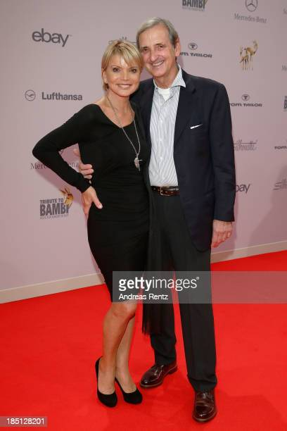 Uschi Glas and Dieter Hermann arrive at Tribute To Bambi at Station on October 17 2013 in Berlin Germany
