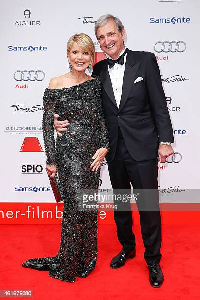 Uschi Glas and Dieter Hermann attend the German Film Ball 2015 on January 17 2015 in Munich Germany