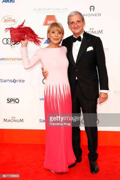 Uschi Glas and Dieter Hermann attend the German Film Ball 2018 at Hotel Bayerischer Hof on January 20 2018 in Munich Germany