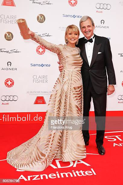 Uschi Glas and Dieter Hermann during the German Film Ball 2016 at Hotel Bayerischer Hof on January 16 2016 in Munich Germany