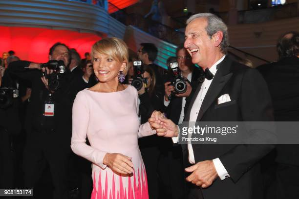 Uschi Glas and Dieter Hermann during the German Film Ball 2018 at Hotel Bayerischer Hof on January 20 2018 in Munich Germany