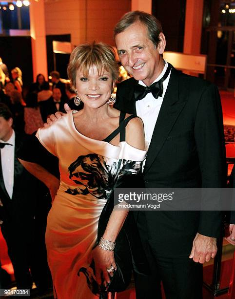 Uschi Glas and Dieter Hermann sits at the 2009 Sports Gala 'Ball des Sports' at the RheinMain Hall on February 6 2010 in Wiesbaden Germany