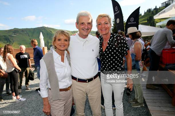 Uschi Glas and her husband Dieter Hermann Anita Harisch during the first Ladies Day and start of the Queens Club hosted by Maria HoeflRiesch on June...