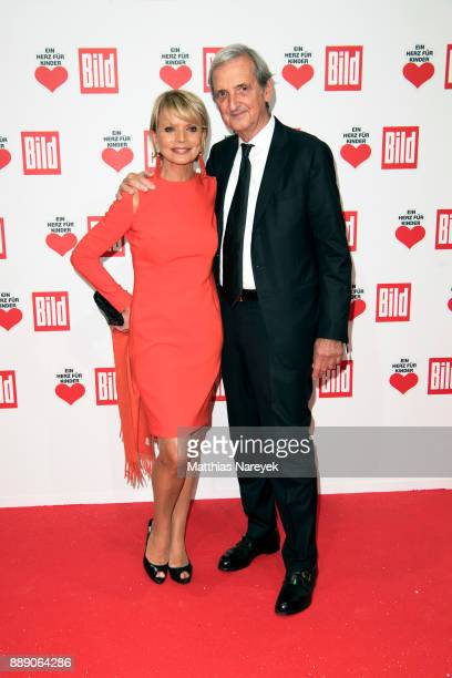 Uschi Glas and her husband Dieter Hermann arrive at the Ein Herz Fuer Kinder Gala at Studio Berlin Adlershof on December 9 2017 in Berlin Germany
