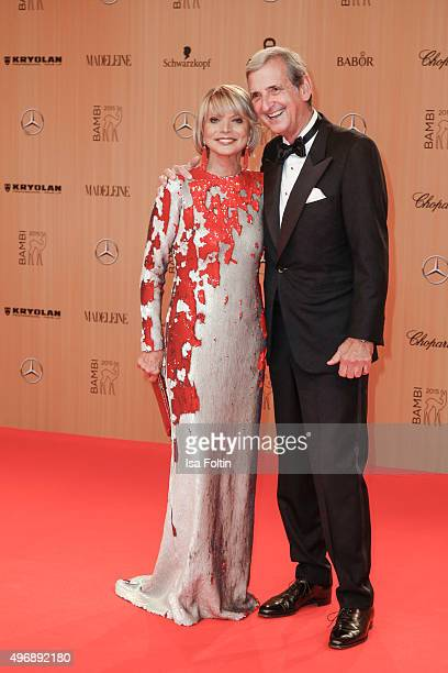 Uschi Glas and her husband Dieter Hermann attend the Bambi Awards 2015 at Stage Theater on November 12 2015 in Berlin Germany