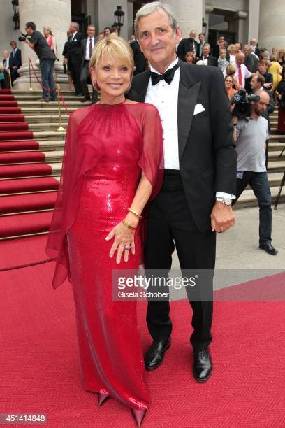 Uschi Glas and her husband Dieter Hermann attend the 'Guillaume Tell' Opera Premiere at the Opera Festival Opening In Munich on June 28 2014 in...
