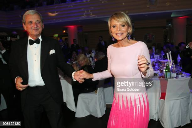 Uschi Glas and her husband Dieter Hermann dance during the German Film Ball 2018 party at Hotel Bayerischer Hof on January 20 2018 in Munich Germany
