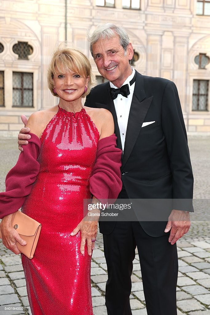 Uschi Glas and her husband Dieter Hermann during a charity dinner hosted by AMADE Deutschland and Roland Berger Foundation at Kaisersaal der Residenz der Bayerischen Staatsregierung on June 14, 2016 in Munich, Germany.