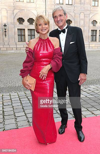 Uschi Glas and her husband Dieter Hermann during a charity dinner hosted by AMADE Deutschland and Roland Berger Foundation at Kaisersaal der Residenz...