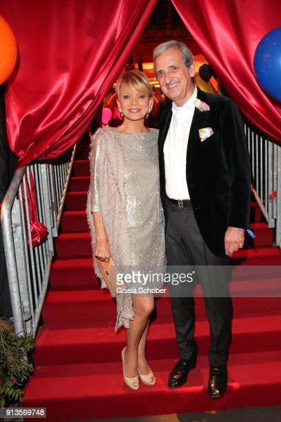 Uschi Glas and her husband Dieter Hermann during Michael Kaefer's 60th birthday celebration at Postpalast on February 2 2018 in Munich Germany