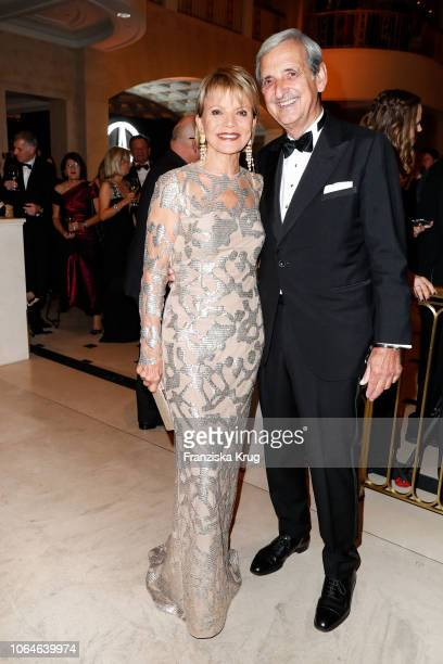 Uschi Glas and her husband Dieter Hermann during the 67th Bundespresseball at Hotel Adlon on November 23 2018 in Berlin Germany
