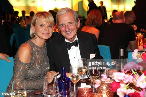 Uschi Glas and her husband Dieter Hermann during the Bambi Awards 2017 after party at Atrium Tower Stage Theater on November 16 2017 in Berlin Germany