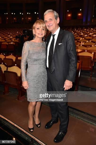 Uschi Glas and her husband Dieter Hermann during the Bayerischer Filmpreis 2018 at Prinzregententheater on January 19 2018 in Munich Germany