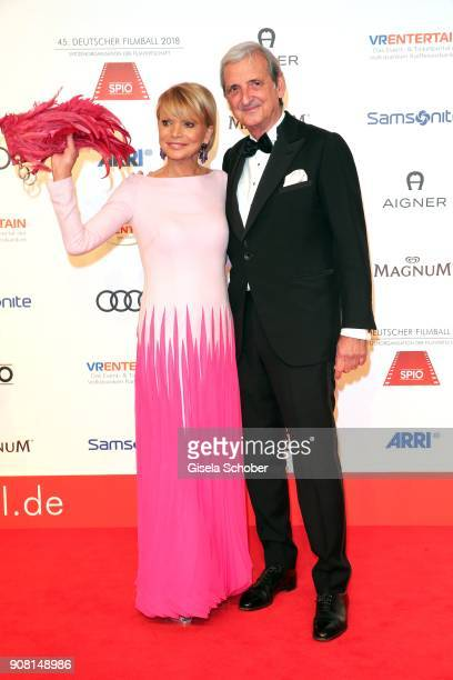 Uschi Glas and her husband Dieter Hermann during the German Film Ball 2018 at Hotel Bayerischer Hof on January 20 2018 in Munich Germany
