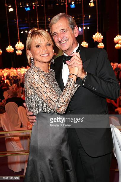 Uschi Glas and her husband Dieter Hermann during the Leipzig Opera Ball 2015 on October 31 2015 in Leipzig Germany